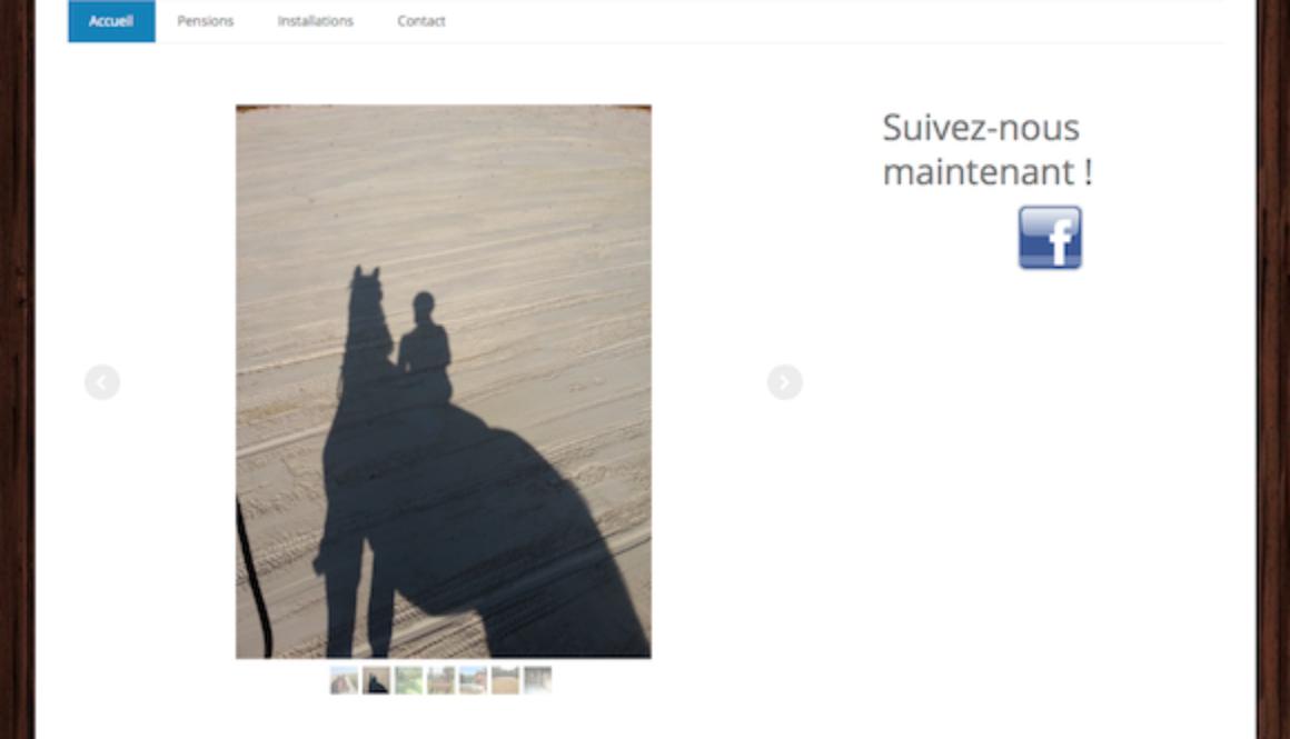 Capture site internet équestre Écurie de la Sablière