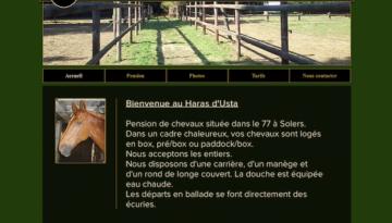 Capture site internet équestre Haras Usta