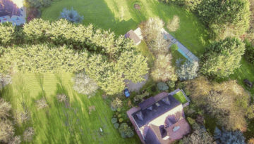 Vue aérienne de la grande propriété à vendre seine-et-marne