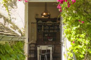 Jardin et entrée cuisine