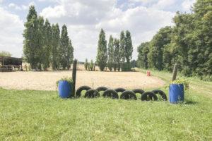 Carrière chevaux installation équestre